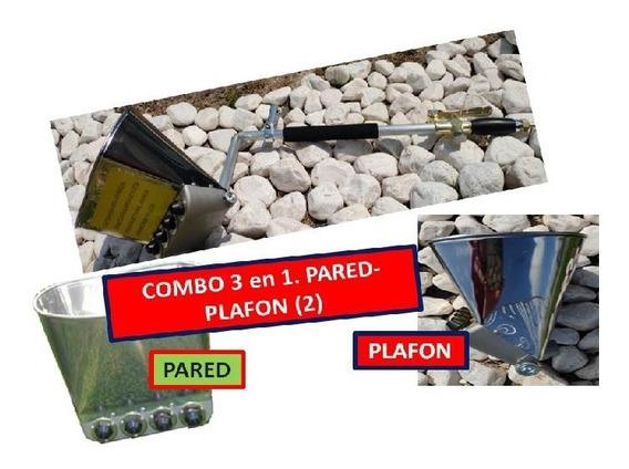 Lanzadora De Mortero, Concreto Super Combo 3 N 1 2 Tolvas Pared Plafón, Boquillas Redoxx