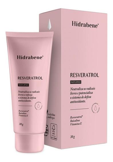 Hidrabene Resveratrol 30 G Antioxidante Uso Noturno