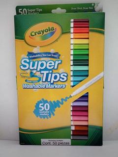 50 Plumones Crayola Marcadores Delgados Super Tips