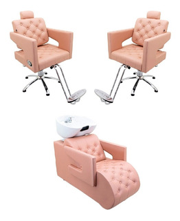 Kit Poltrona Cadeira + Lavatório Móveis Para Salão De Beleza
