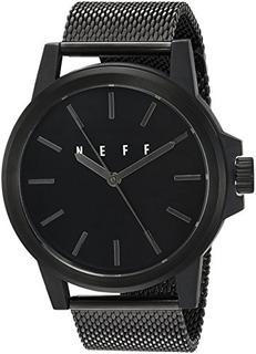 Reloj Deportivo Automático Y De Metal Neff Color Negro Mode