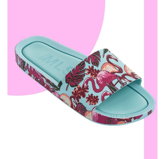 Melissa Beach Slide 3db Chinelo Branco Rosa Verde Original + Nf