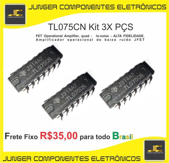 Tl075cn -tl075 - Tl075c - Para Receiver - Equalizador - Cygnus - Gradiente - Polyvox - Sony - Kit Com 3x Peças