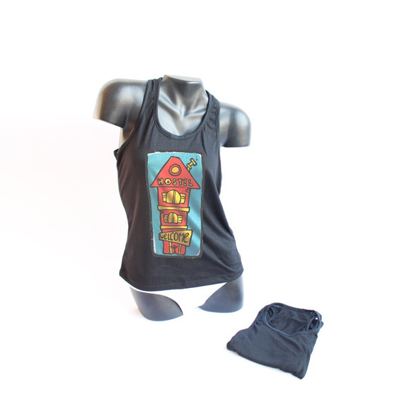 Musculosa Negra Sublimable X5