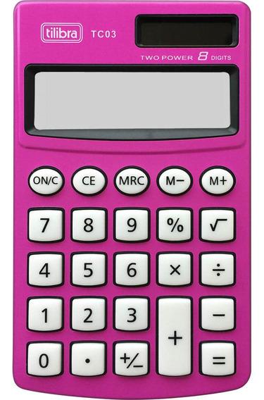 Calculadora 8 Dígitos Rosa Tc03 Tilibra