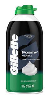 Espuma Para Afeitar Gillette Foamy Mentol 312 Gr