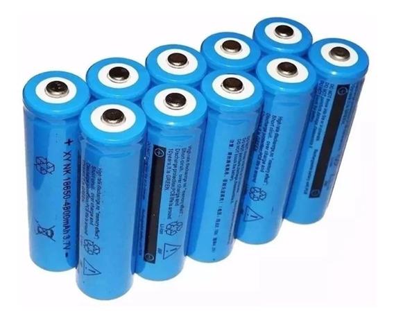 2 Un Bateria Recarregável 18650 3,7v 9800mah P/ Lanterna