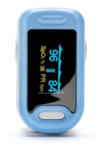Oximetro Saturometro Digital Azul Medición Oxigeno Anmat