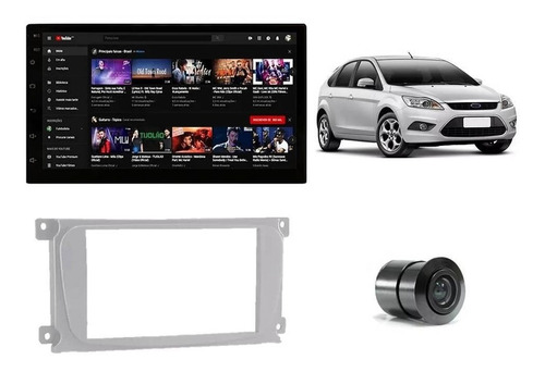 Kit Som Ford Focus 2009/2013 - Dvd 2 Din + Moldura + Câmera