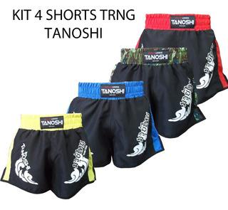 Kit 4 Shorts Muay-thai Trng Tanoshi - Estampado