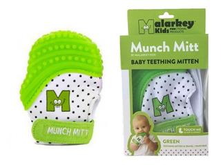 Guante Miton Mordedor Munch Mitt Para Bebé. Color Verde