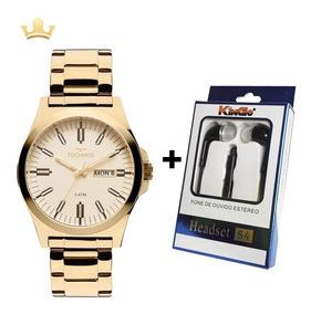 Relógio Technos Masc. 2305ay/4x + Brinde Fone De Ouvido