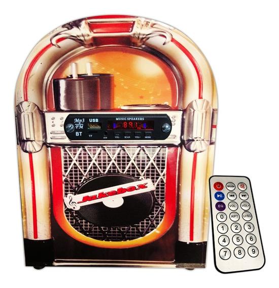 Jukebox Retrô Vintage C/ Radio, Usb, Aux, Bluetooth Bivolt