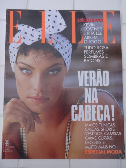 Revista Elle 41 Rita Lee Kevin Costner Silvia Pfeiffer 1991