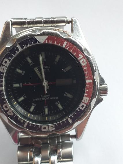 Relógio Antigo Casio 200 Dw Japan Original Mma 343 Lindo Lei