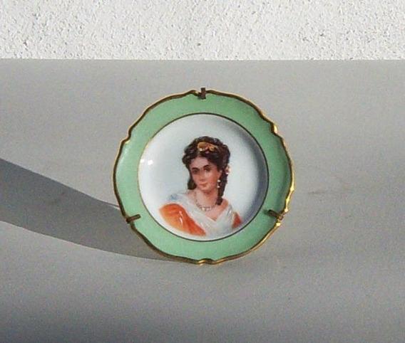 Historical*- Plato Miniatura Sello Limoges 6,5 Cm. -envío