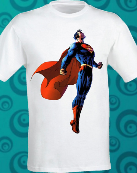 Playera Superman Classic Sublimada Dc Comic 100