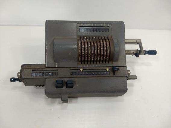 Antiga Maquina Somar Odhner Calculadora Antiga Funcionando