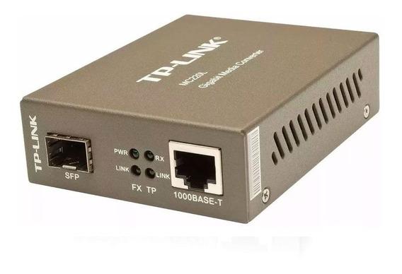 Conversor De Mídia Gigabit Tp-link Mc220l Sfp