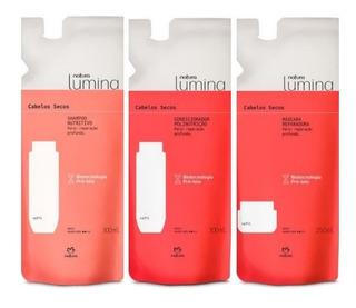 Natura Lumina Refil Kit Sh+condic 300ml+masc 250ml Cab Secos