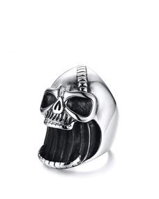 Anel Caveira Skull Abridor De Garrafa Gotico Motoqueiro