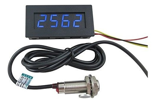 Digiten Velocidad 4 Led Digital Tacometro Rpm Meter