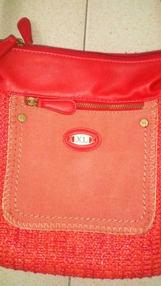 Cartera Morral Roja Xl
