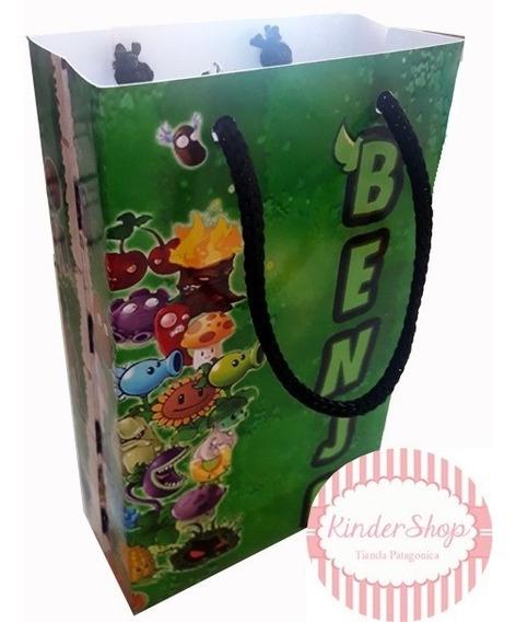 Plantas Vs Zombies Bolsita Imprimible Personalizada Candy