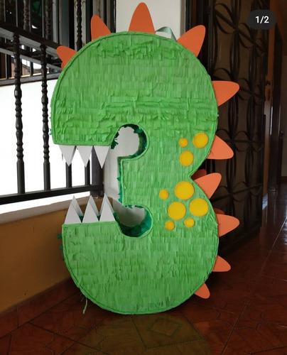 Piñata Número 3 De Dinosaurios