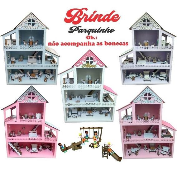 Casinha Madeira Infantil Lol Pintada 31 Móveis E Nome Luxo