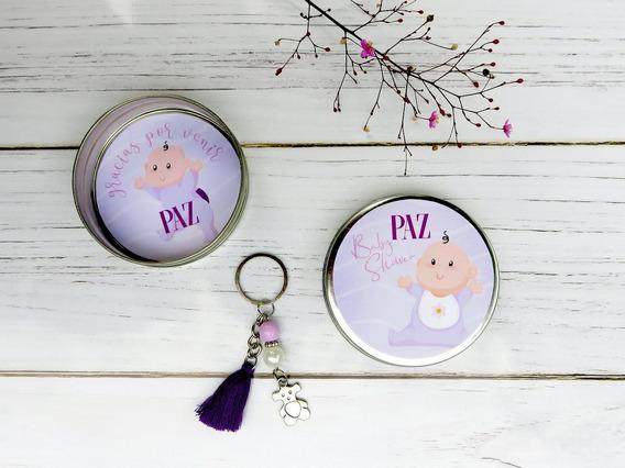 Souvenirs Baby Shower Personalizados Lata Llavero 10unidades