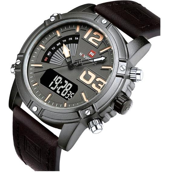 Relógio Masculino Naviforce Modelo 9095 Quartzo E Digital