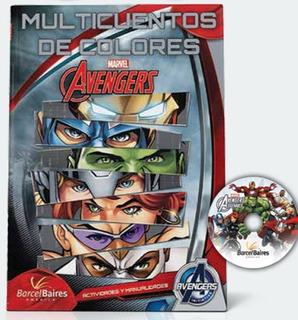 Libro Multicuentos De Colores Avengers - Barcel Baires