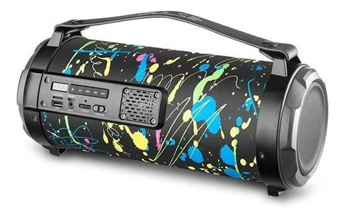 Caixa De Som Pulse Sp361 Bazooka Paint Blast 80w Bluetooth