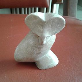 Arremate Rara Coruja Esculpida Em Pedra Sabão