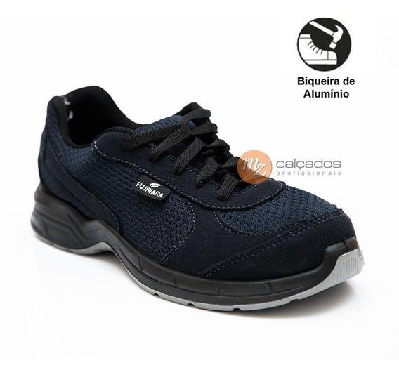 Tênis De Segurança Azul Htot Biqueira Alumínio Ca 36089