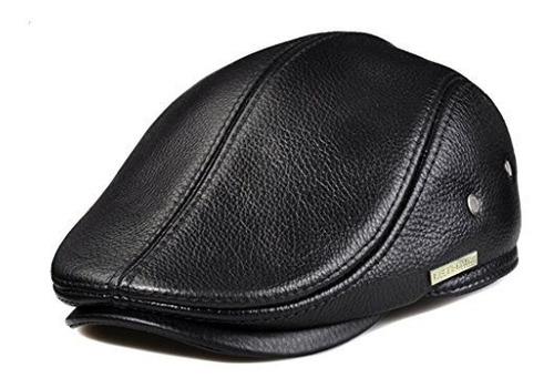 Lethmik Flat Cap Capby Sombrero De Cuero Genuino Vintage New