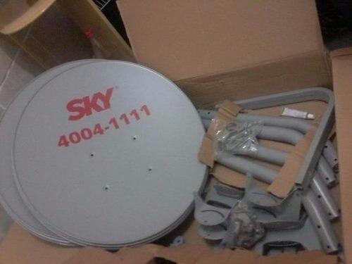 2 Antenas Sky Banda Ku 60cm + Lnb Duplo Uni