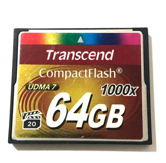 Cartão De Memória Cf Transcend 1000x 64gb