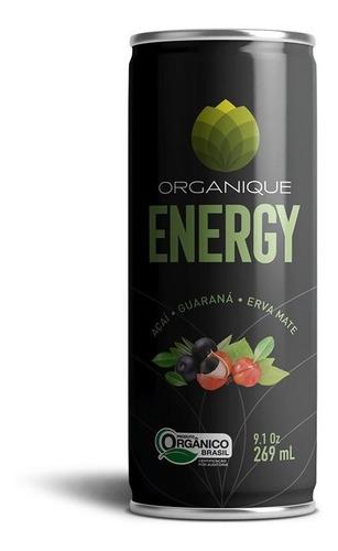 Imagem 1 de 6 de Kit 12 Latas - Energético Orgânico - Pure Energy - Organique