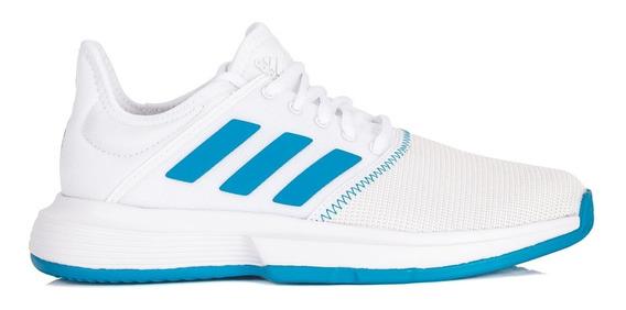 Tênis adidas Gamecourt Branco E Azul Celeste