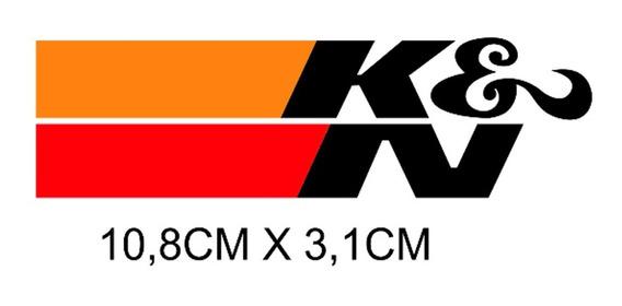 2 Adesivos K&n Kn Filtro Esportivo Audi Bmw Honda Hornet X1