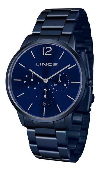 Relógio Lince Masculino E Feminino Lmaj087l D2dx Azul