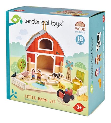 Imagen 1 de 8 de Juguete Granja Pequeña Tender Leaf Toys 18pcs De Madera Febo