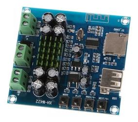 Placa Amplificadora 2x50w Cartão Memória/pendrive/bluetooth