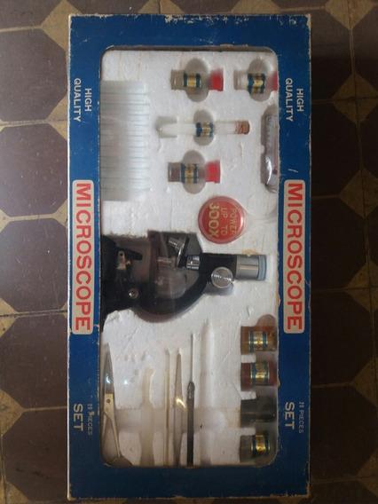 Microscopio Set Made Usa Antigo Anos 70