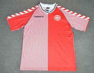 Camisa Dinamarca Home Copa Do Mundo 1986 Larsen 10