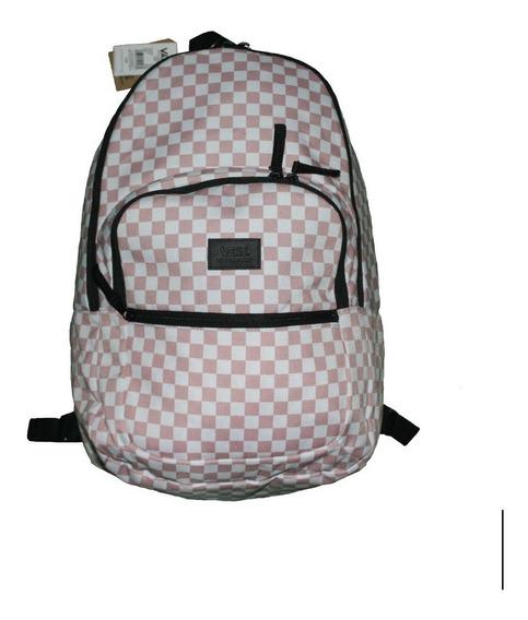 Mochila Vans Rosa Checkered Escolar Porta-laptop Urban Beach