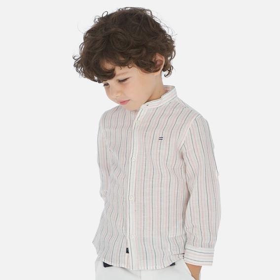 Camisa M/l Lino Niño Talla 2 Años Pieza Única