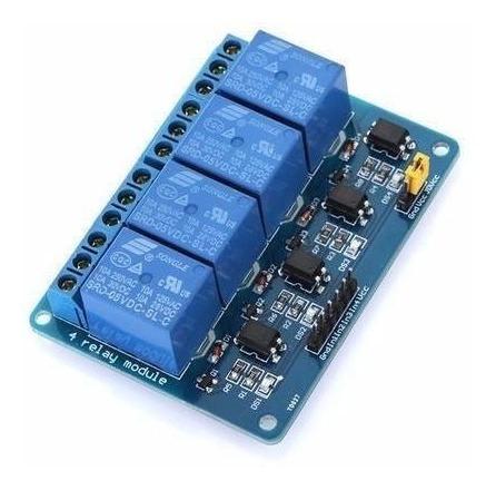Módulo Rele 4 Canais 5v Optoacoplado Arduino Pic Avr
